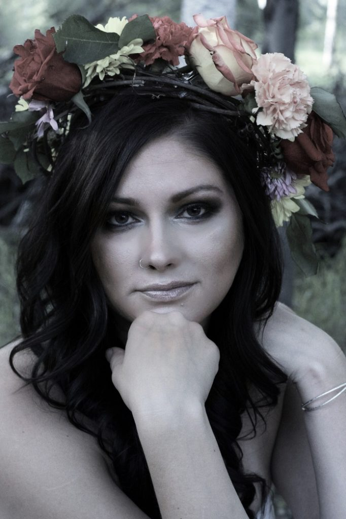 Model Michelle Lewis Photography, Makeup, and Floral Design Sarah Halberg Makeup and Photography