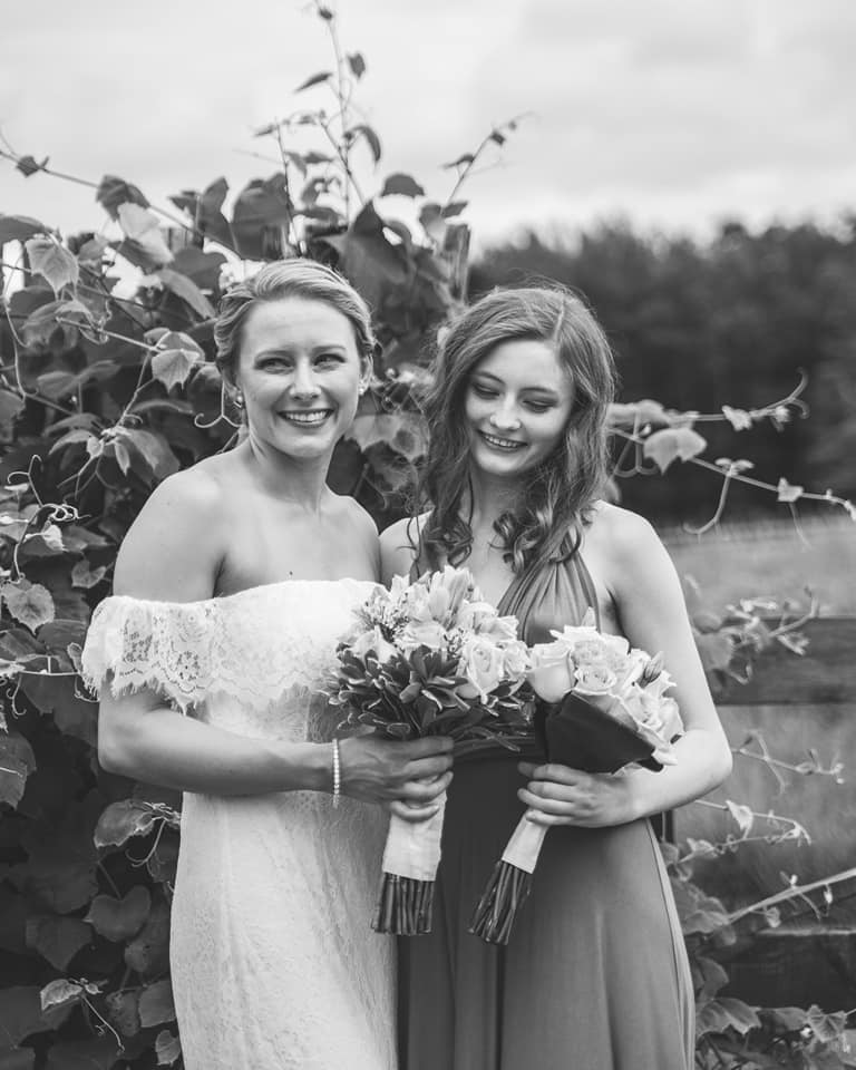 Bride Kelly and Sister